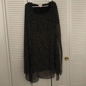 Polka Dot Ralph Lauren Full Length Skirt
